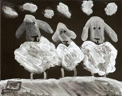 3 Sheep Poster