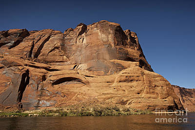 Steep Cliffs Guard The Colorado River Poster by Terry Moore