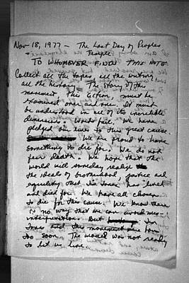Suicide Note, Written And Signed Poster by Everett