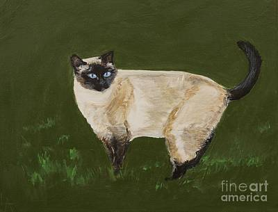 Sweetest Siamese Poster by Leslie Allen