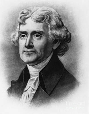 Thomas Jefferson, 3rd American President Poster by Photo Researchers