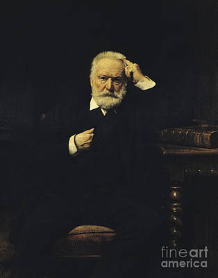 Victor Hugo, French Author Poster
