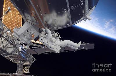 Astronaut Participates Poster by Stocktrek Images