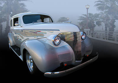 39 Chev Deluxe Poster by Bill Dutting
