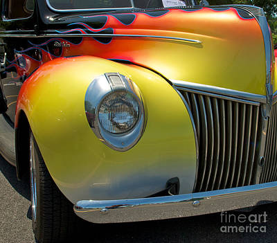 39 Ford Deluxe Hot Rod 3 Poster by Mark Dodd