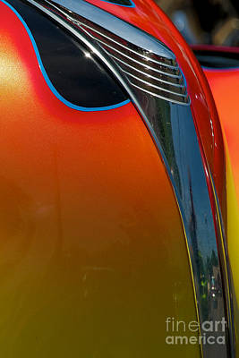 39 Ford Deluxe Hot Rod Hood Ornament  Poster by Mark Dodd