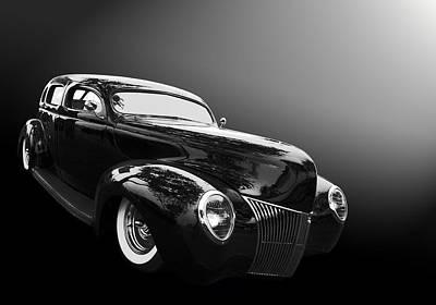 39 Ford Sedan Poster by Bill Dutting