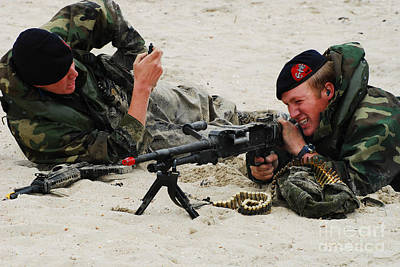 Dutch Royal Marines Taking Part Poster by Luc De Jaeger