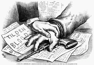 Election Cartoon, 1877 Poster
