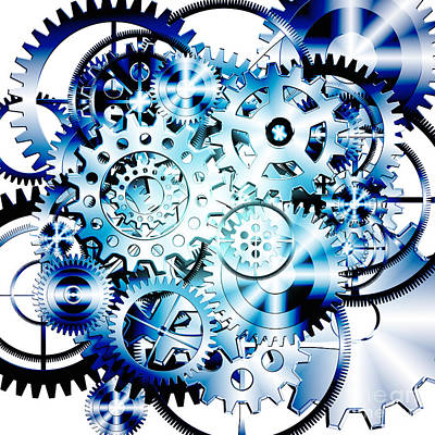 Gears Wheels Design  Poster