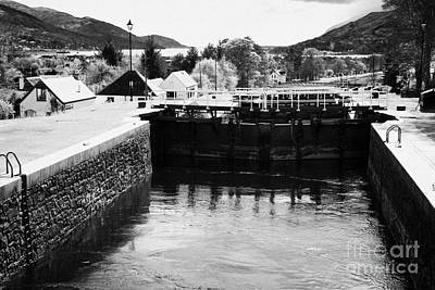 Neptunes Staircase Series Of Locks On The Caledonian Canal Near Fort William Highland Scotland Uk Poster