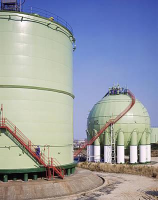 Oil Refinery Storage Tanks Poster