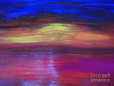Seascape Sunset Poster