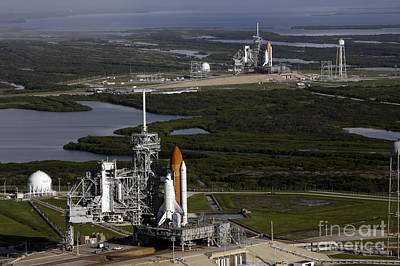 Space Shuttle Atlantis And Endeavour Poster