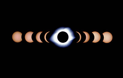Timelapse Image Of A Total Solar Eclipse Poster by Dr Fred Espenak