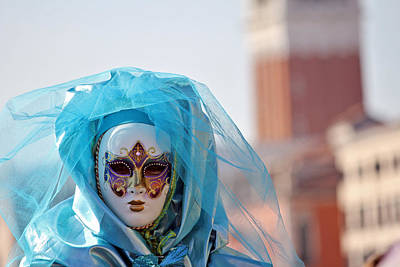Venice Carnival Poster by Cedric Darrigrand