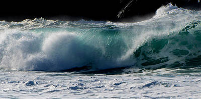 Poster featuring the photograph Waves by Barbara Walsh
