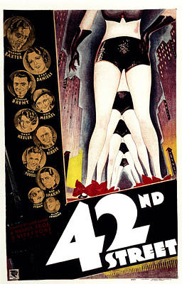 42nd Street, Warner Baxter, Bebe Poster by Everett