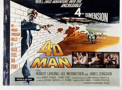4d Man, Robert Lansing, 1959 Poster