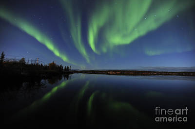 Aurora Borealis Over Long Lake Poster by Jiri Hermann