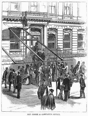 Bank Panic, 1873 Poster by Granger