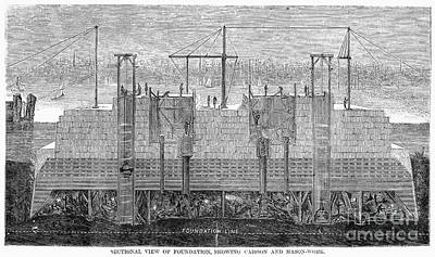 Brooklyn Bridge, 1870 Poster by Granger