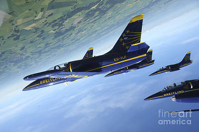 Flying With The Aero L-39 Albatros Poster by Daniel Karlsson