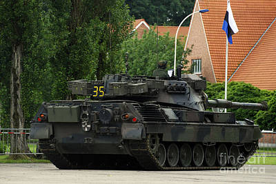 The Leopard 1a5 Mbt Of The Belgian Army Poster by Luc De Jaeger