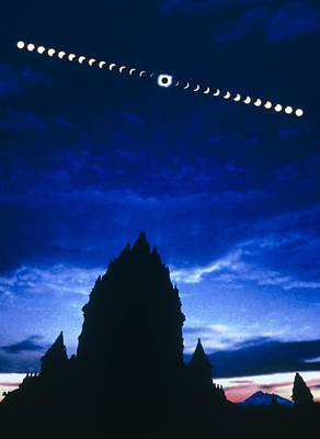 Timelapse Image Of A Total Solar Eclipse Poster