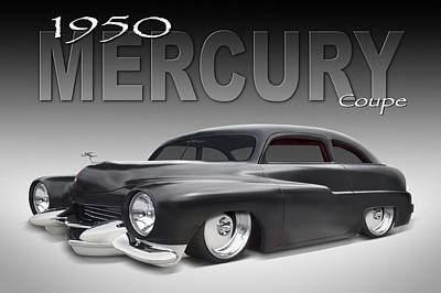 50 Mercury Coupe Poster by Mike McGlothlen