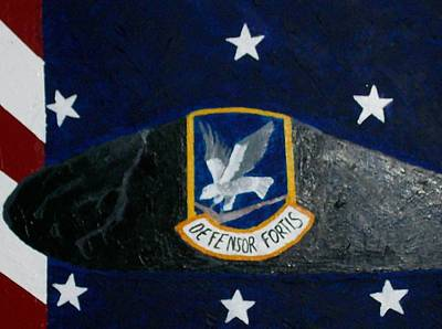55th Security Forces Beret Poster by Roy Penny