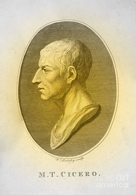 Cicero, Roman Philosopher Poster by Photo Researchers