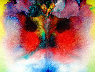 Colorful Water Color Painting Poster