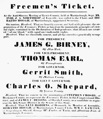 Presidential Campaign, 1840 Poster