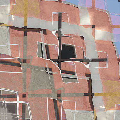 Urban Abstract San Diego Poster by Carol Leigh