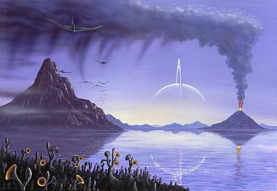 Alien Landscape, Artwork Poster by Richard Bizley