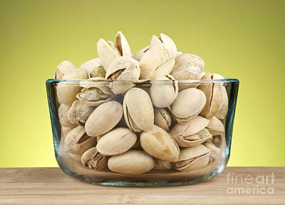 Pistachios In Bowl Poster by Blink Images