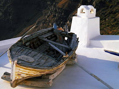 Poster featuring the photograph Santorini Greece by Colette V Hera  Guggenheim