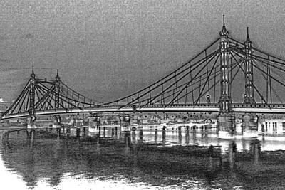 Albert Bridge London Poster