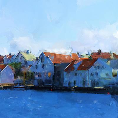 Haugesund Harbour Poster by Michael Greenaway
