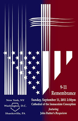 Poster featuring the digital art 9-11 Rememberance by Jane Bucci