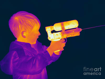 Thermogram Of A Boy Poster by Ted Kinsman