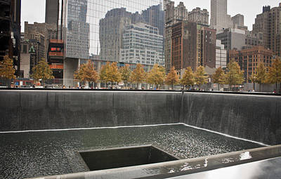 911 Memorial Pool South Poster by Teresa Mucha
