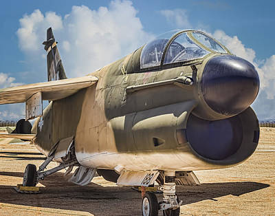 Poster featuring the photograph A-7 Corsair II by Steve Benefiel