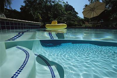 A Backyard Swimming Pool In San Diego Poster by Tim Laman