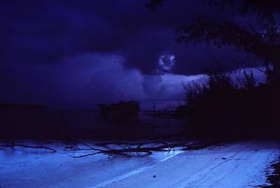 A Beach At Dawn Poster by Bob Whitt