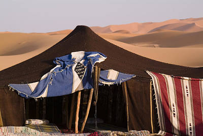 A Berber Tent And Sand Dunes Poster