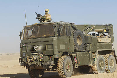 A British Army Foden 6x6 Heavy Recovery Poster