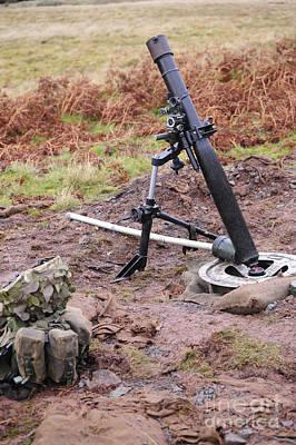 A British L16a2 81mm Mortar Tube Poster