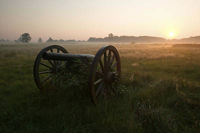 A Cannon At The Gettysburg Battlefield Poster by Michael Melford
